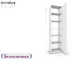 1-дверный шкаф с 5-ю полками - 93н017, ПРАВЫЙ