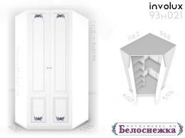 Угловой 2-х дверный шкаф - 93н021, полки СЛЕВА