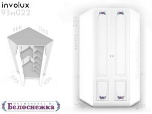 Угловой 2-х дверный шкаф - 93н022, полки СПРАВА