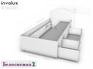 Кровать сп.м. - 90*200, с 2-мя ящиками СПРАBA - 93к001