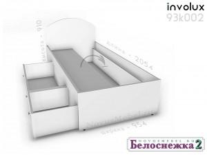Кровать сп.м. - 90*200, с 2-мя ящиками СЛЕВА - 93к002