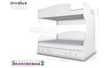 2х-ярусная кровать, без лестницы - 93к022