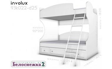 2х-ярусная кровать, с лестницей - 93к022