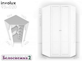 Угловой 2-х дверный шкаф - 93н020, полки СПРАВА