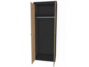 2-х дверный шкаф со штангой и полкой - 127н004
