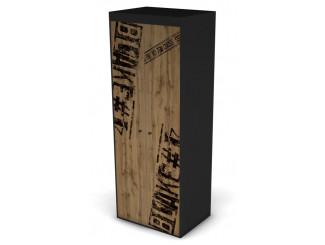 2-х дверный шкаф со штангой и полками - 127н003