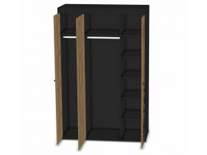 3-х дверный шкаф со штангами и полками - 127н005