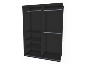 Шкаф-купе, 2-х дверный со штангами - 127н006