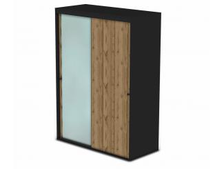 Шкаф-купе, 2-х дверный со штангами и зеркалом - 127н006-1z