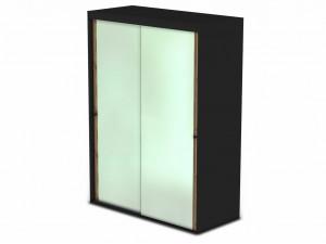 Шкаф-купе, 2-х дверный со штангами и зеркалами - 127н006-2z