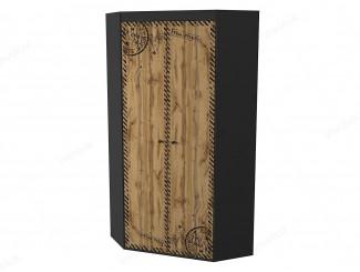 Угловой 2-х дверный шкаф со штангами и полками - 127н007