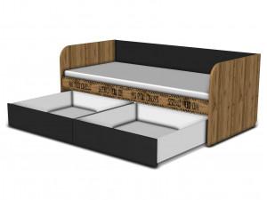 Кровать-тахта 90*200, с 2-мя ящиками - 127к001_12