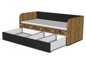 Кровать-тахта 90*200, с 3-мя ящиками - 127к001_11_12