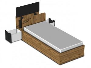 Кровать с подъемным механизмом 90*200 - 127к002
