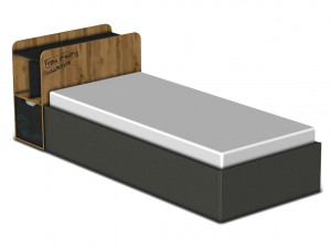 Кровать с подъемным механизмом 90*200 - 127к004