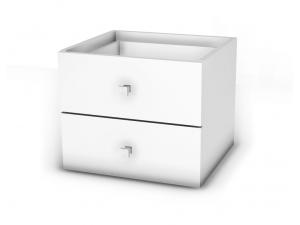 Вкладыш с 2-мя ящиками для стеллажа - 118н106