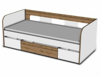 Кровать 90*200 с 3-мя ящиками - 118к001_011_012