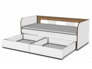 Кровать 90*200 с 2-мя ящиками - 118к001_012_012