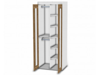 2-х дверный шкаф - 118н003 со штангой и полками СПРАВА