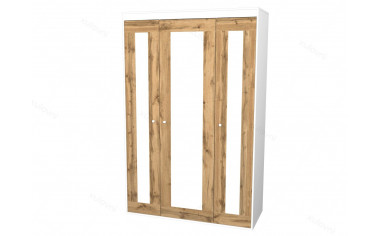 3-х дверный шкаф - 118н005 со штангой и полками СПРАВА