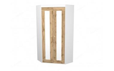 Угловой 2-х дверный шкаф - 118н007, полки СЛЕВА