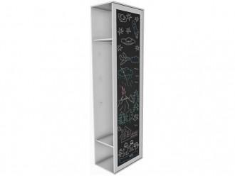 Шкаф окончание с дверкой для рисования и зеркалом - 118н012 - ПРАВЫЙ