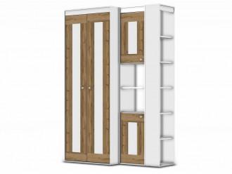 2-х дверный шкаф - 118н004 со штангой