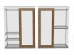 2-х дверный шкаф-купе - 118н006 с 2-мя штангами