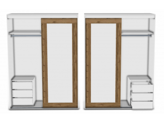 2-х дверный шкаф-купе - 118н006