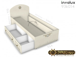 Кровать - 90*200 с ящиками - 93к014