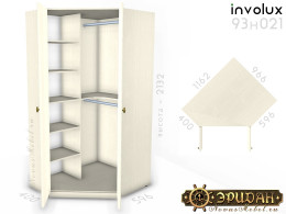 Угловой 2-х дверный шкаф - 93н021