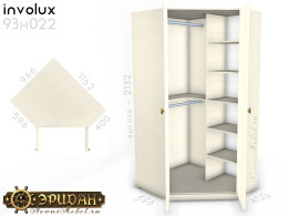 Угловой 2-х дверный шкаф - 93н022