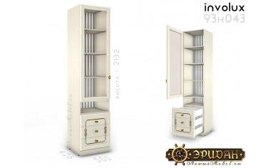 1-дв. шкаф стекло с полками и ящиками - 93н043