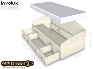 Кровать тахта с ящиками - 93к005