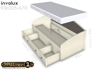 Кровать-тахта с мягкой спинкой - 93к005-к70