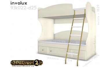 Двухярусная кровать с лестницей - 93к022-d25