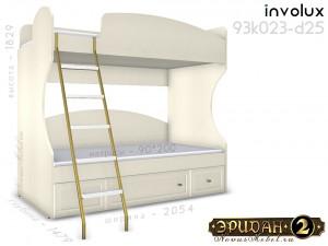 Двухярусная кровать с лестницей - 93к023-d25