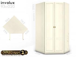 Угловой 2-х дверный шкаф - 93н020