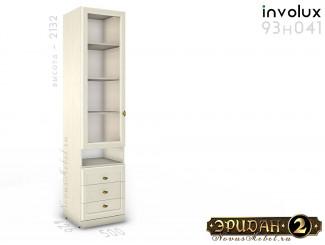 1-дв. шкаф стекло с полками и ящиками - 93н041