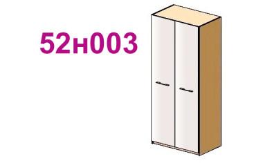 Шкаф двухдверный с полками - 52н003