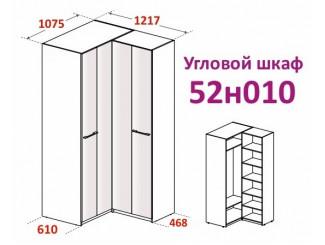 Угловой шкаф (двери гармошка) - 52н010