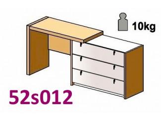 Стол туалетный, с комодом СПРАВА - 52s012