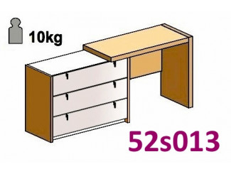 Стол туалетный, с комодом СЛЕВА - 52s013