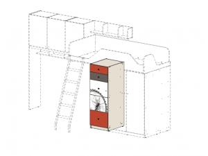 шкаф с 5-ю ящиками под 2-й ярус - 92н002