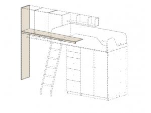 подставка под полки СЛЕВА, для кровати-чердака - 92к005