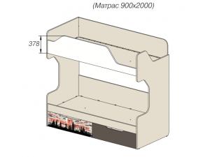 2-х ярусная кровать - 92к052, вход СПРАВА