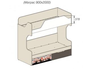 2-х ярусная кровать - 92к053, вход СЛЕВА