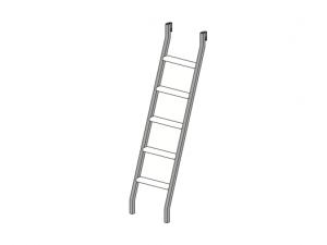 Металлическая лестница для 2-х ярусной кровати - 92к092