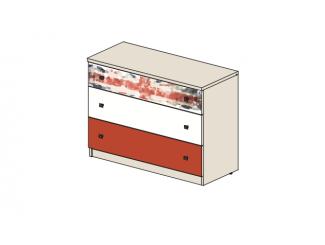 Широкая тумба-комод с 3-мя ящиками - 92т030