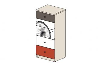 Высокая тумба-комод с 5-ю ящиками - 92т034